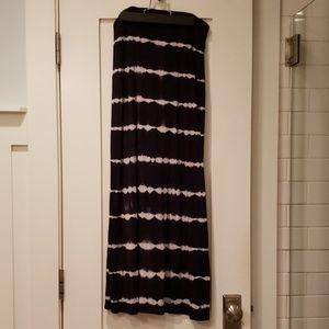 Kensie Tie Dye Black White Maxi Skirt XS